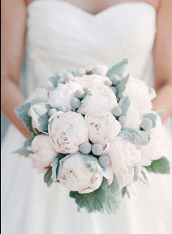 Свадебные белые букеты