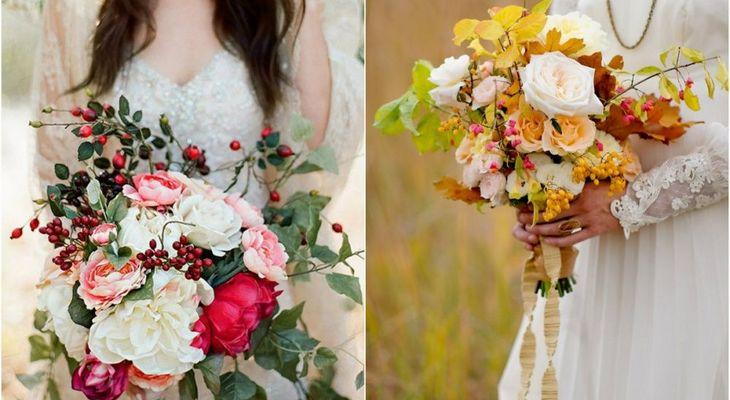 Букет невесты осенью