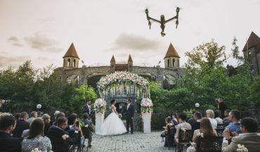 Съемка свадьбы квадрокоптером