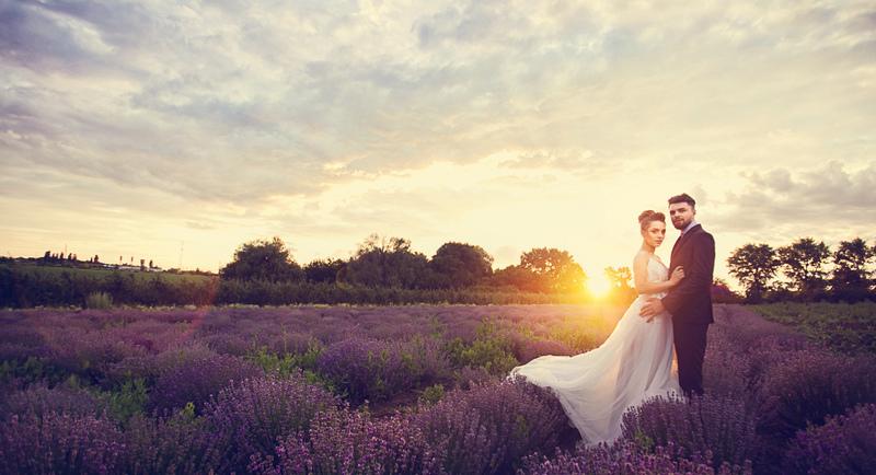 свадебная фотосессия в лаванде